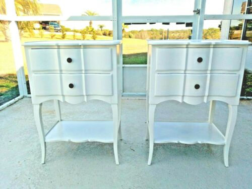 Gorgeous Pair of Vintage John Widdicomb Country French Cherry Nightstands