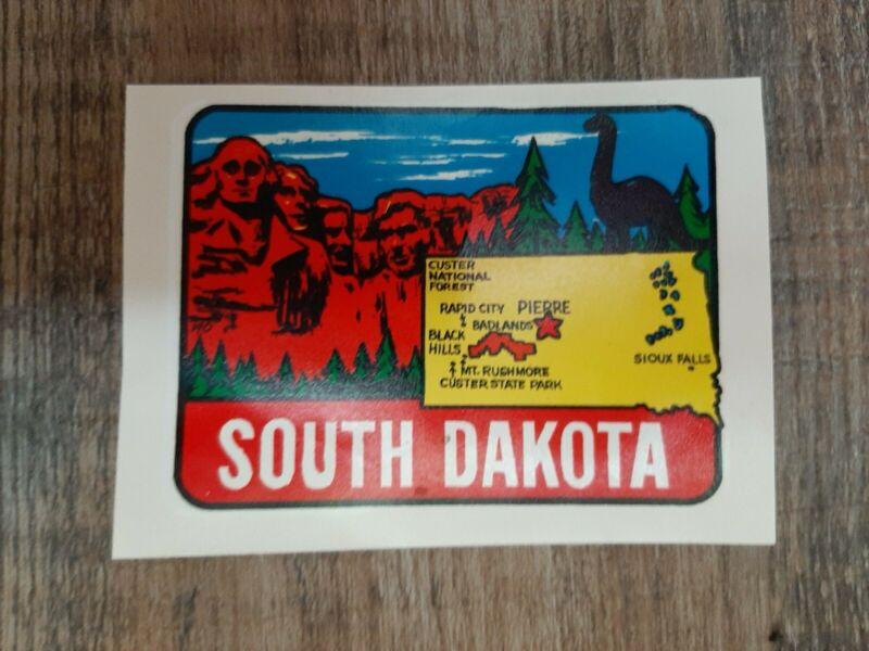 Vintage MOUNT RUSHMORE SD SOUTH DAKOTA US State Park Souvenir Decal Sticker