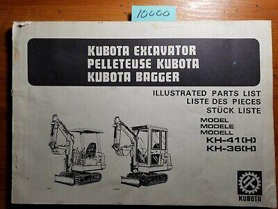 Kubota Kh-41h Kh-41 Kh-41h Kh-36h Kh -36 Kh-36h Excavator Parts Manual