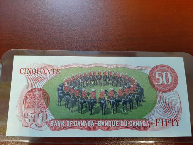 RCMP 1975 $50 Dollar Banknote RCMP MUST SEE !!!!!