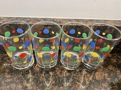 Polka Dot Drinking Glasses (Fiestaware Fiesta Polka Dot Small Juice Glass Drinking - Set Of)