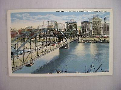 Vintage Postcard The Federal Street Bridge In Pittsburgh Pennsylvania Unused