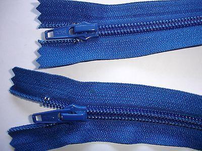 RV 362 Reißverschluß ykk blau 46cm, teilbar als 2-Wege-RV 1 Stück