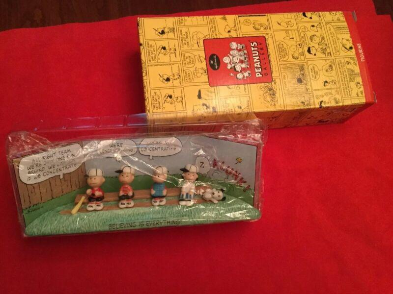 Hallmark Peanuts Gallery The Winning Team Baseball New with Box