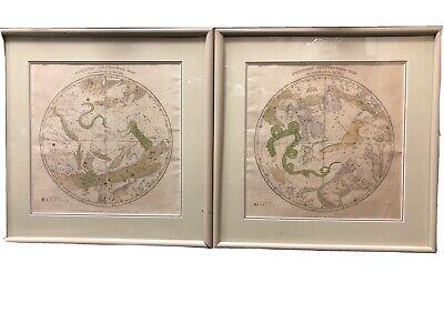 1835 Burritt/Huntington Northern & Southern Circumpolar Maps Antique Atlas