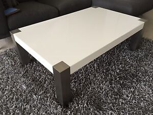 Coffee Table - White 120x30 North Fremantle Fremantle Area Preview