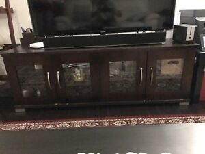 TV stand with cabinets