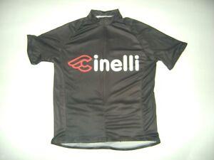 ITALIA BIKE JERSEY CINELLI BIKES ITALIAN SHIRT SIZE L COOL ITALY BLACK MASH NR