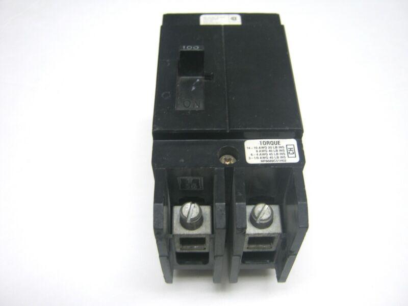 CH2100  CHALLENGER CUTLER HAMMER BREAKER 3 POLE 100 AMPS BOLT ON  480 VOLT  ~