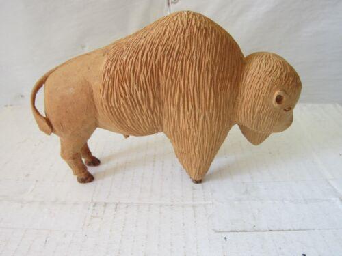 Hand Carved Wood Buffalo/ Bison