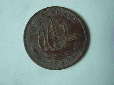 1939 HALF PENNY GEORGE VI COIN (CIRCULATED)