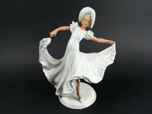Vintage SCHAUBACH KUNST Porcelain West Germany Lady Dancing FIGURINE
