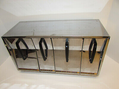 Vintage 50s Lincoln Beautyware Chrome Counter Top Wall Mount Kitchen Canisters