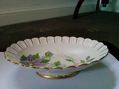 HAND PAINTED DISH BY H J WOOD BURSLEM ENGLAND 1948c IN LOVELY CONDITION