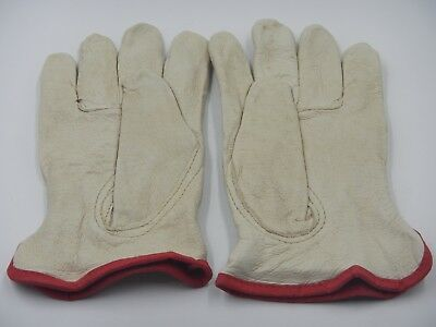 Glove Leather Work Gloves Industrial Driver Size Small Cotton Lined