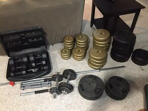 Weights/bar and bench