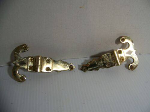 """2-VINTAGE SOLID BRASS 5 1/2"""" X 3 1/4"""" OFFSET HINGES #362 with Screws"""