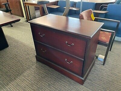2 Drawer Lateral Size File Cabinet By Myrtle Office Furniture In Mahogany Wood