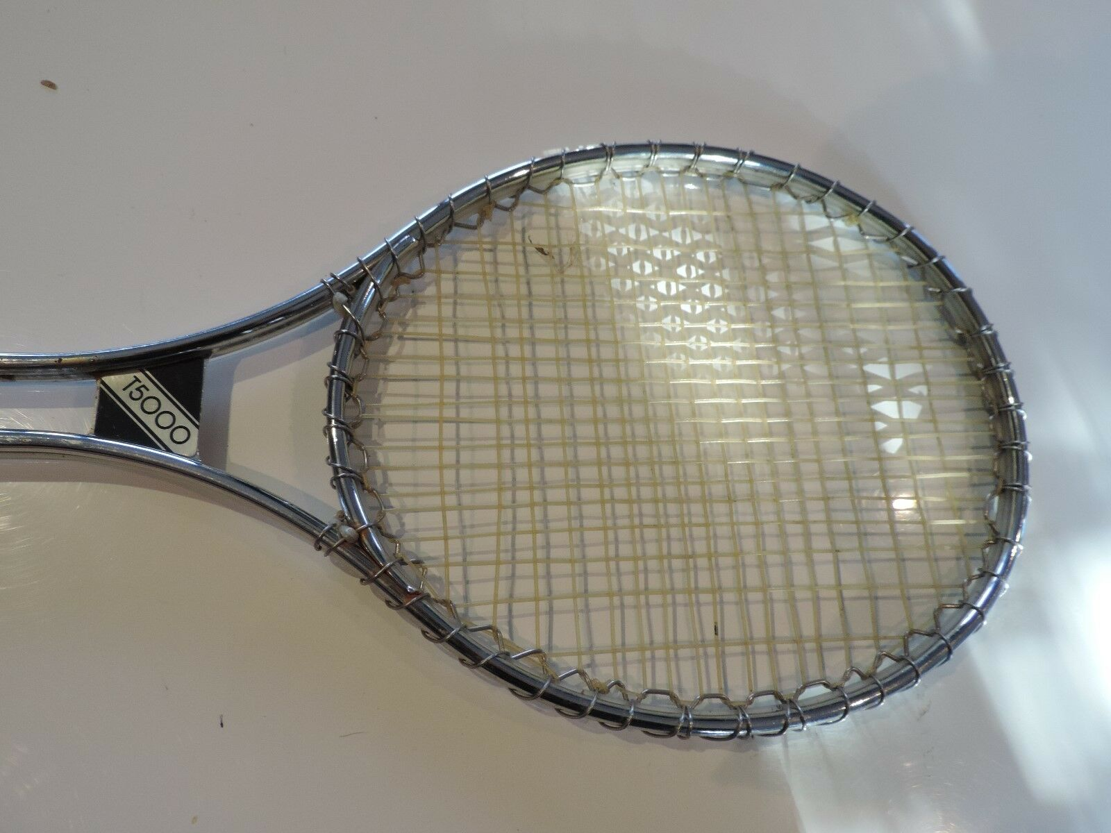 Wilson Tennis Racket T5000 - Jimmy Connors Silver Metal Framed Racket.