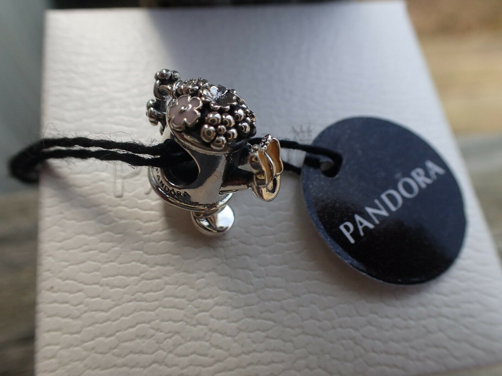 Authentic Pandora Blooming Watering Can Silver Charm 797873e