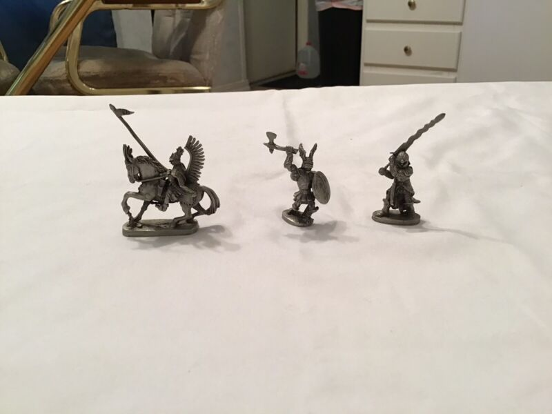 (3) Partha Pewter Figurines #684, 660, and 680. All In Great Shape!!