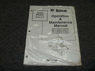 Bobcat 1812 Snowblower Owner Operator Maintenance Manual 711700101-up