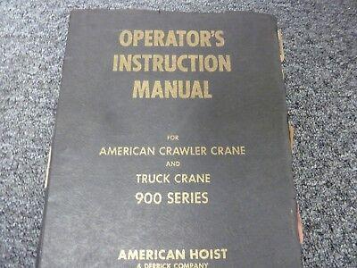 American 9310 Lattice Boom Crawler Crane Owner Operator Maintenance Manual