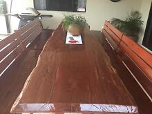 Red Cedar Live Edge Wood Slab Table and Bench Seats Annandale Townsville City Preview