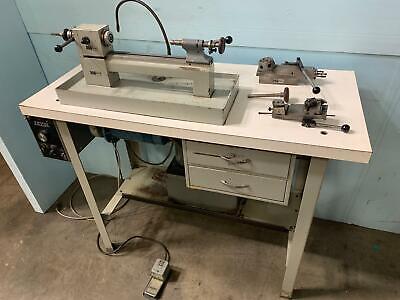 Levin Precision Instrument Lathe 4 X 9-12 D Tailstock Cross Slide Turret