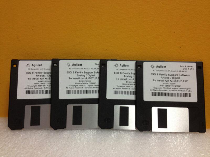 Agilent E4400-10006, Rev: B.06.00 4 Disk -Complete Set, Support Software