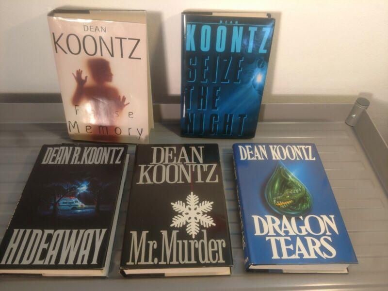 Dean Koontz Hardcover Lot Of 5 Novels