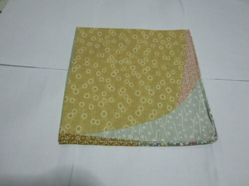 """Japanese Furoshiki Cloth Wrapping Scarf Tapestry19""""Cotton Flora Abstract Pattern"""