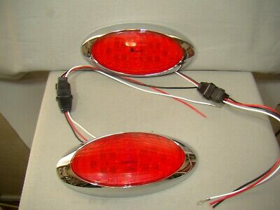 oval LED tail lights flush mount LED tail lights teardrop trailer tail lights