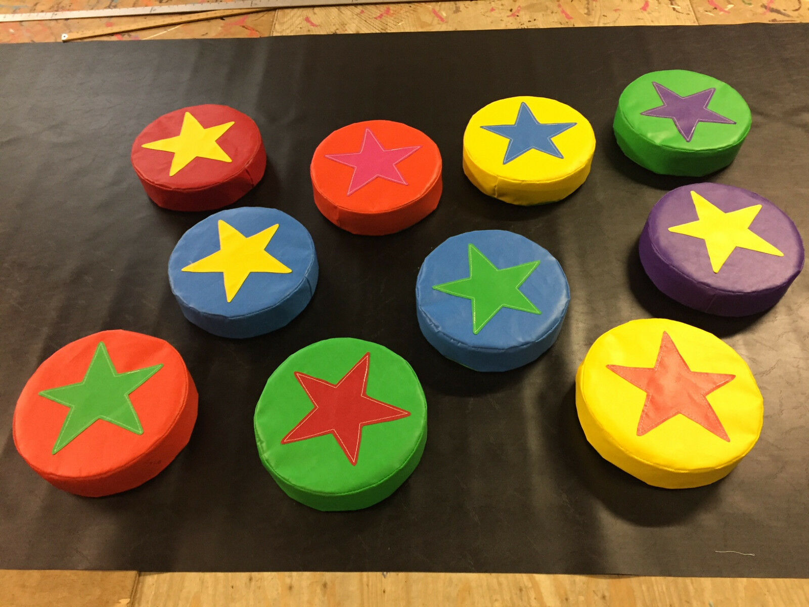 6 x  Applique STAR Soft Play Stepping Stones 12inch x 3inch