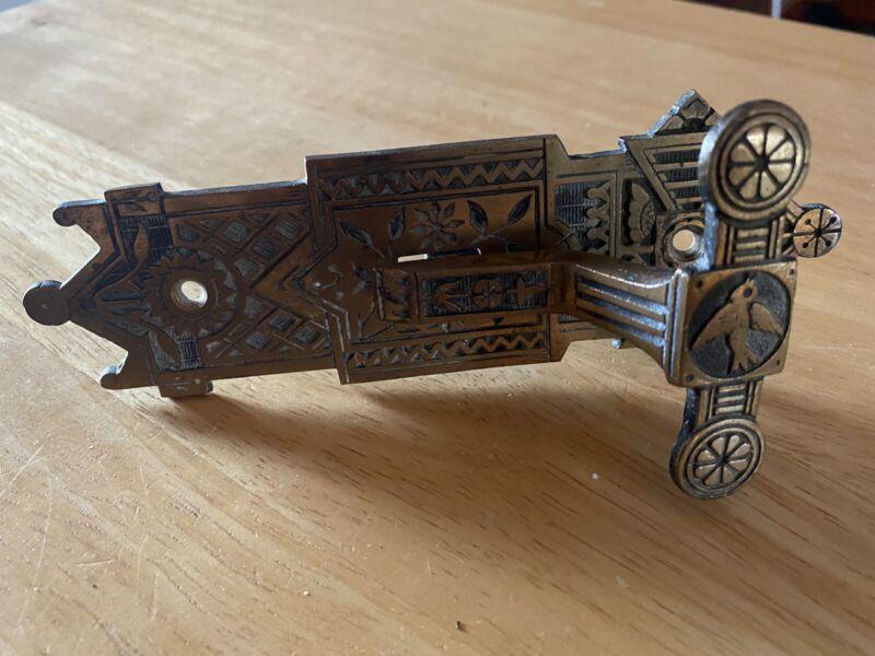 Antique Victorian Bronze Doorbell Pull / T-Lever / Eastlake / Aesthetic-bluebird