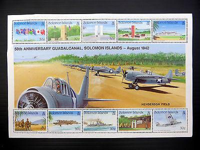 SOLOMON ISLANDS Wholesale 1992 World War II - $3 M/Sheet x 50 SEE BELOW...FP1095