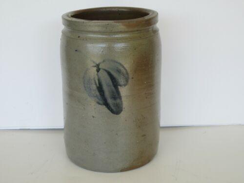 Antique 19th Century Pennsylvania 1/2 Gallon Decorated Stoneware Crock (Nice)