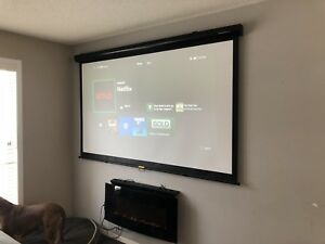 BenQ HD projector and screen