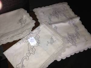 Various  matching sets of as new linen placemats .$40. Bundall Gold Coast City Preview