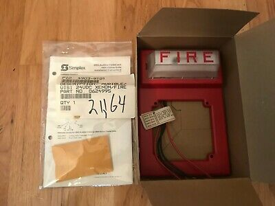 Simplex 4903-9101 Strobe Wall Mount Without Horn Fire Alarm