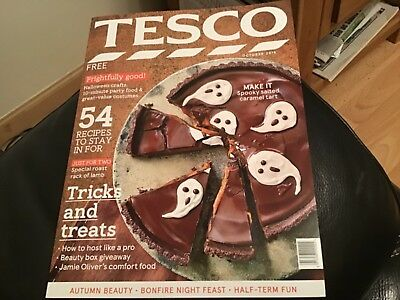 TESCO SHOPS  MAGAZINE OCTOBER 2018 GREAT HALLOWEEN IDEAS, FOOD AND DECORATIONS - Halloween Food Decoration Ideas