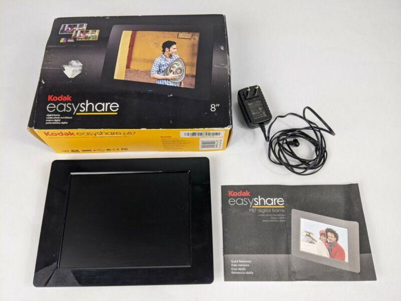 """Kodak EasyShare P87 8"""" Digital Picture Frame Open Original Box Good Condition"""