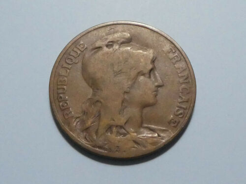 France 10 Centimes 1902 Bronze