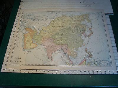 "Vintage Original 1898 Rand McNally Map:  ASIA, 28 x 21"""
