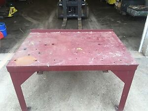 Steel welding table.