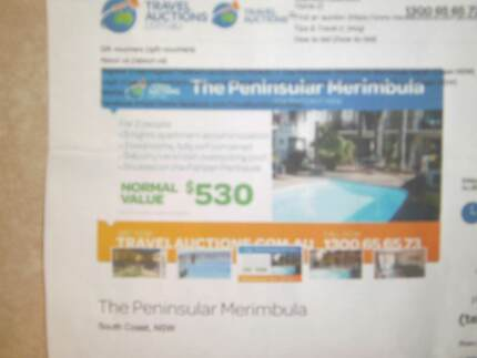 HOLIDAY ACCOMODATION / MERIMBULA RESORT / 5 NIGHTS.