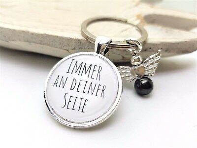 Schlüsselanhänger IMMER AN DEINER SEITE + SCHUTZENGEL  Freundschaft Liebe Glück