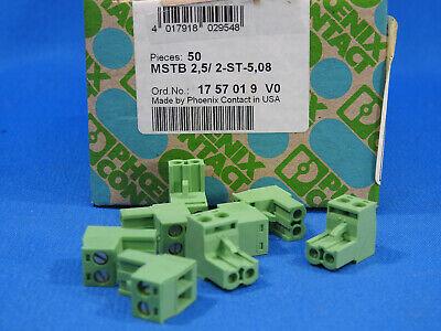 Phoenix Contact D-32825 Bloomberg 1757019 Green 2 Port Terminal Block 50 Pcs.