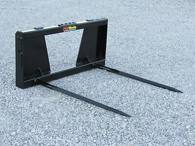 Pro Works Dual 48 Hay Bale Spear Spike Attachment Fits Skid Steer Loader