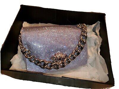 Versace Medusa Palazzo Sultan Crystal Embellished Chain Shoulder Bag